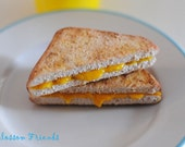 Realistic Grilled Cheese Sandwich, 1:3 Scale, 18 Inch Doll, American Girl, BJD,  Play food