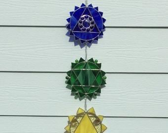 Stainglass Chakra wall/window hanging SG-30
