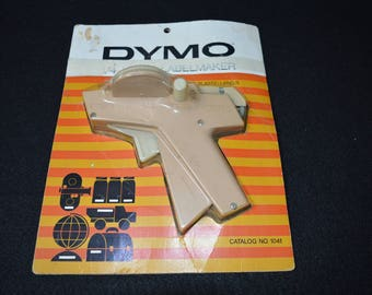 "Vintage Dymo Home Labelmaker, 1960's Label Maker, Dymo 1/4"" Tape Home Labelmaker with Original Packaging, Vintage Dymo Office Embossing Tool"