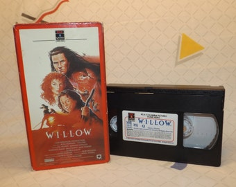 VHS Willow Cassette Tape VCR Willow 1988 Fantasy Drama Ron Howard Old Movies Good Rare VHS Tapes 80s