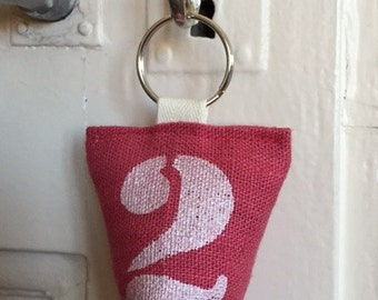 Keychain in linen perfumed with Lavender