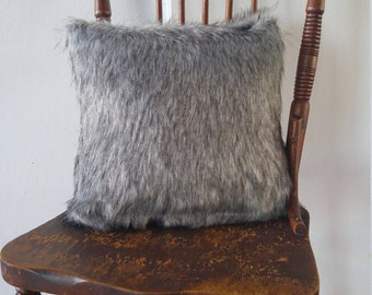 faux fur pillow cover grey cushion cover in luxurious faux fur handmade pillow cover