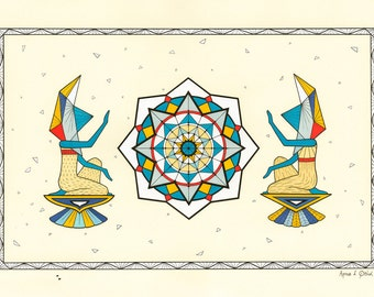 Cocreation Giclee Print - Geometric Art Print - Mandala Print - Meditation Art Print - Fine Art Print - Modern Art Print - Housewarming Gift