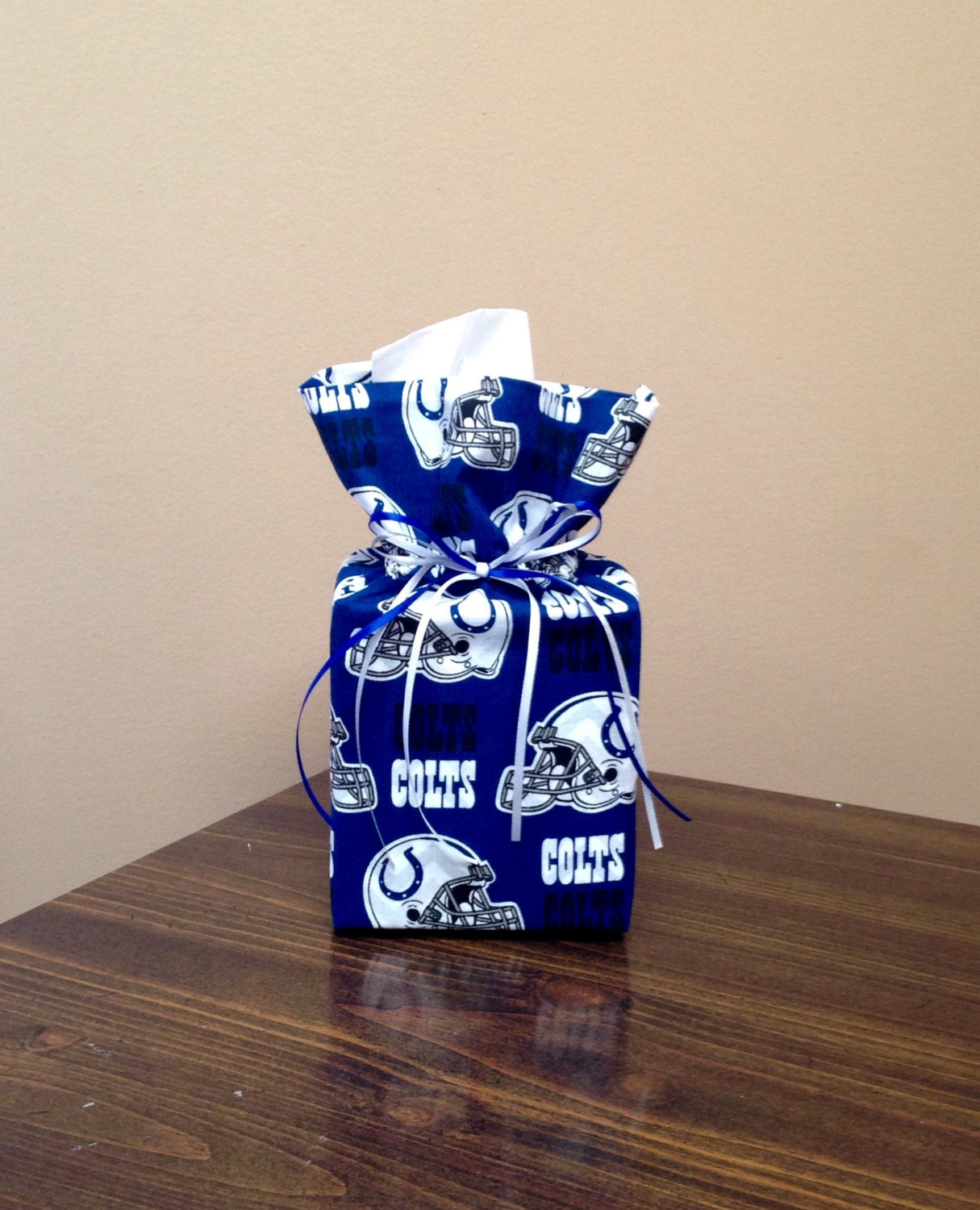 Colts bathroom decor - Indianapolis Colts Tissue Box Cover Tissue Box Cover Tissue Box Kleenex Box Cover Bathroom Decor Office Decor Home Decor Mlb