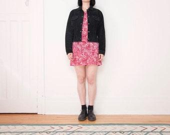 90s Black Suede Jacket / Size Medium