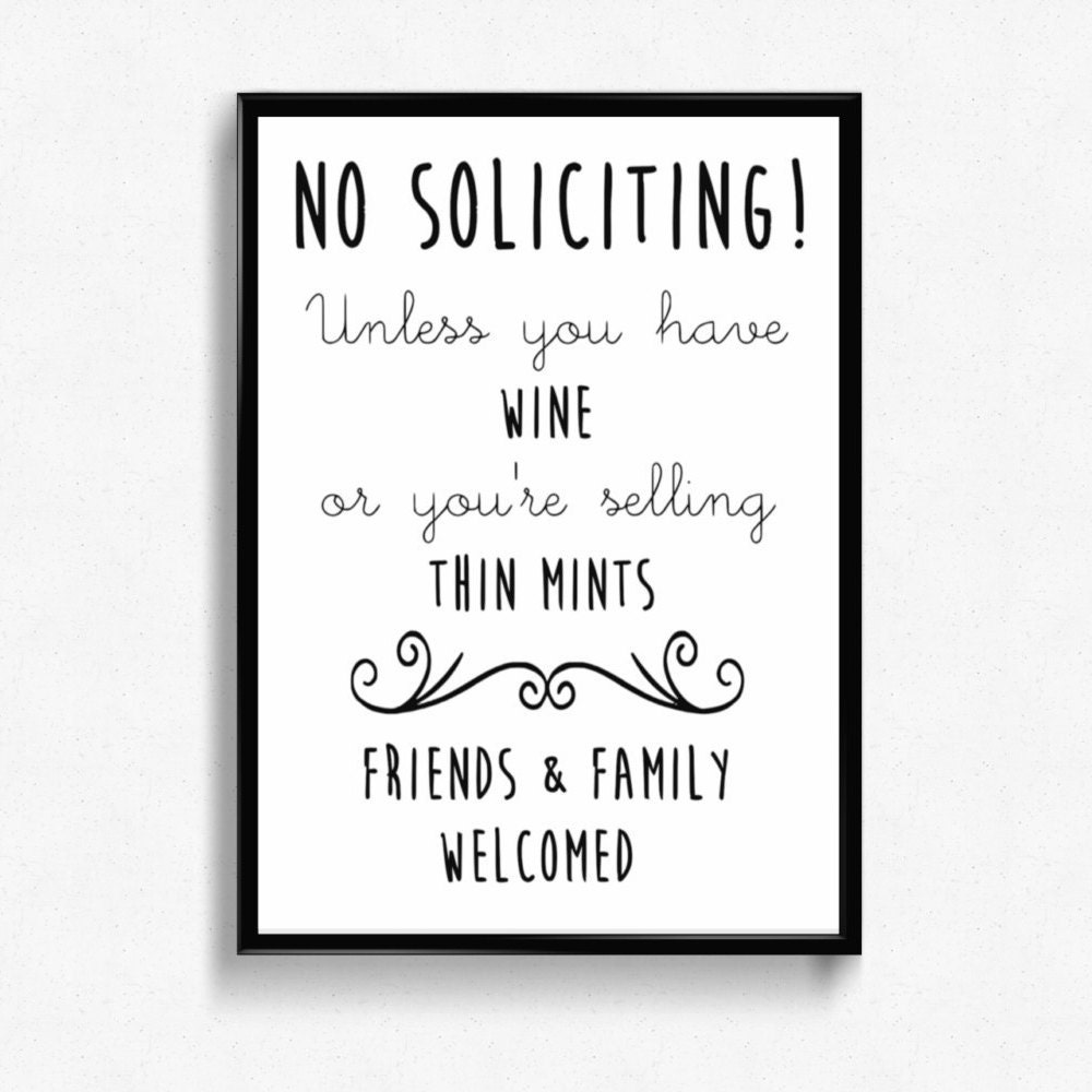 This is a picture of Old Fashioned Funny No Soliciting Sign Printable