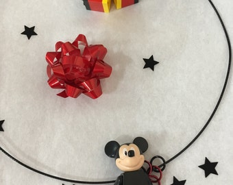 Disney Lego Minifigure Mickey Mouse hoop necklace set