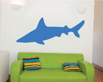 Large Shark Childrens Room Wall Sticker