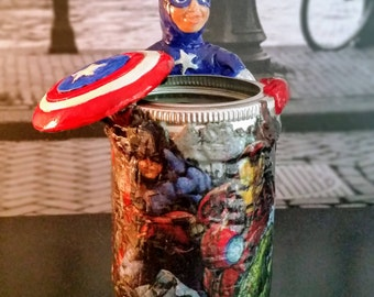 kids toothbrush holder, Captain America toothbrush holder, home and living, handmade, bathroom accessories, cups and holders, super heroes,
