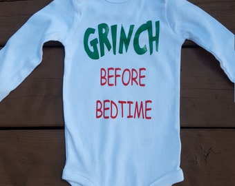 Grinch before bedtime onesie