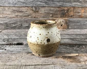Vintage Speckled Stoneware Studio Pottery Jar/Pot