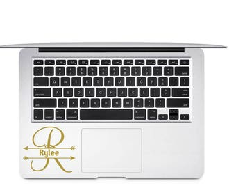 Arrow Split Monogram Decal - Split Monogram Decal - Arrow Monogram Decal - Arrow Decal - Personalized Name Decal - Split Letter Name Decal