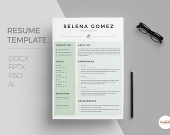 Professional CV and Cover Letter template /clean cv template/ Creative Cv / Modern Cv / Instant Download / 1 page resume / Resume Templates