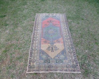 Turkish Rug, Oushak Rug, Vintage Rug, Vintage Oushak Rug, Vintage Turkish Rug, Faded Turkish Rug