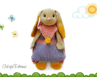 "Crochet pattern Backpack ""Bunny"""