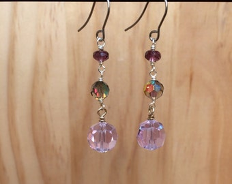 Violet Trio Earrings