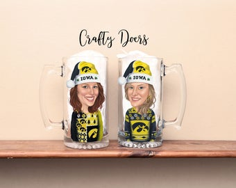 Caricature glasses, Toasting glasses, Wedding party glasses, Bride, Groom, Bridesmaid, Best Man, Maid of Honor, Glasses