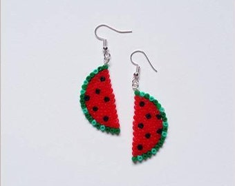 """Collection Gourmande"" watermelon earrings"