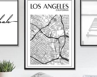 Los Angeles Map - Los Angeles Print - LA Map - California Map - Los Angeles Poster - LA City Map - Printable Large Map - Instant Download