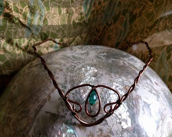 Woodland Circlet - Green Witch's Crown - Elven Tiara