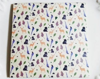 Jasmine Tea Scented Facial Blotting Paper - Animal Print