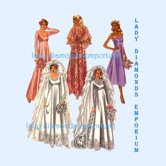 Mccalls 6910 empire waist wedding gown bridesmaid dress for Empire waist wedding dress patterns