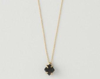 Brookite Necklace. Black Brookite Crystal. Rare Black Brookite Crystal Necklace. Mined in Arkansas.