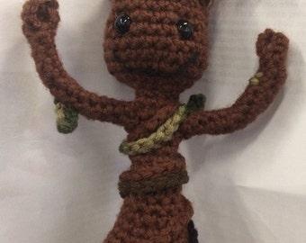 Baby Groot Hand Crochet