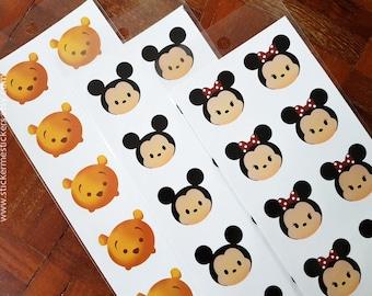 Winnie the Pooh sticker, Mickey Mouse sticker, Minnie Mouse sticker, Disney sticker, Cartoon sticker
