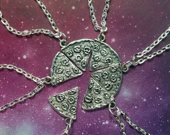 Pizza Slice friendship necklace, sold as a set of 6 necklaces