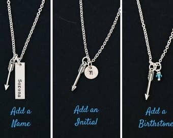 SALE • Arrow Jewelry Friend Gift Graduation Follow Your Arrow Necklace • Custom Name Initial Necklace Boho Gift Tribal Bridesmaid Gift Idea