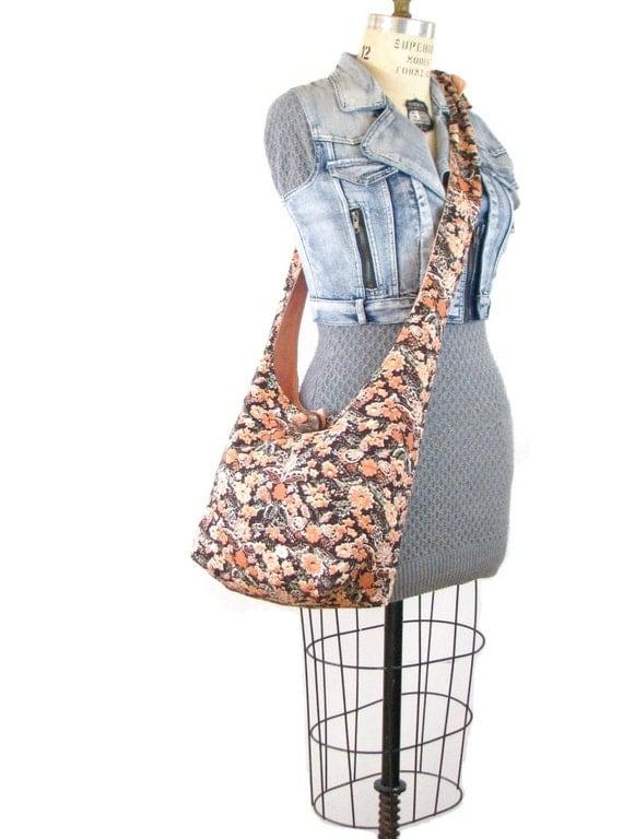 Hobo Shoulder Bag - Crossbody Bag for Women - Vegan Bag - Hippie Bag - Slouch Bag - Slouchy Hobo Bag - Sling Bag - Vegan Purse - Boho Bag