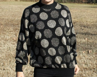 Vintage Sweater Polka Dots Shimmery Goodness for Bae Small-Medium