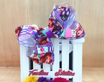 Sofia Cute bow  ~~4 inch   for babies, toddlers and big girls ~