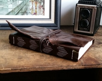 Large Leather Journal, Dark Brown, Hand-Bound 6 x 9 Journal by The Orange Windmill on Etsy 1792