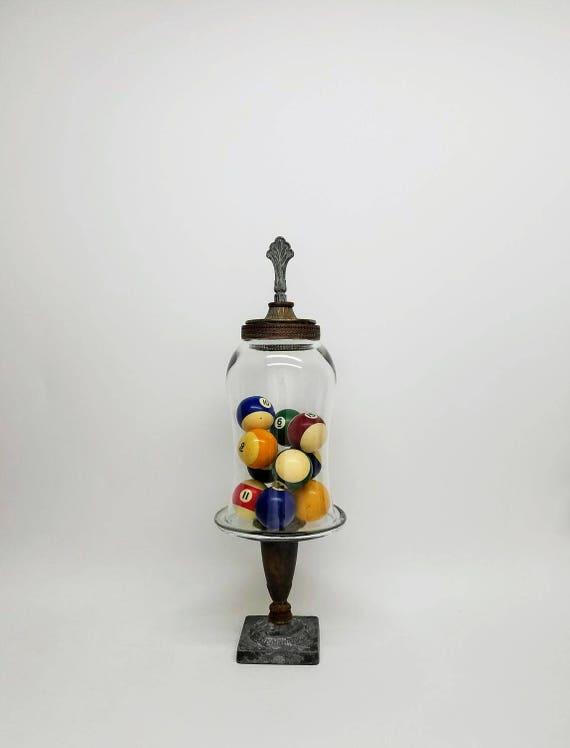 Tall Large Bell Glass Cloche Dome With Pedestal,