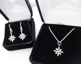 Moravian Star Jewelry - Necklace, Earrings, Bracelets.  Star of Bethlehem Jewelry, North Star Jewelry