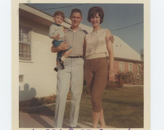 "Vintage Snapshot Photo: ""Larry, Barb & Susan"" c1960s (73557)"