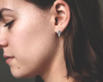 SILVER STUD EARRINGS by jac and hugo