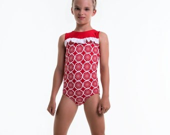 Girls leotard pattern PDF, ballet leotard pattern, gymnastics leotard pattern, girls sewing pattern pdf, dance sewing pattern LEOTARD #6