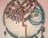 Gem Tree Dreamcatcher Mixed Birthstones Tree of Life Dreamcatcher,7 inch, handmade, Native American inspired