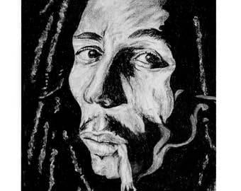Framed Bob Marley Print