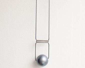 Geometric necklace, modern necklace, bubble necklace, silver colour necklace, Minimalist necklace, urban necklace, contemporary necklace