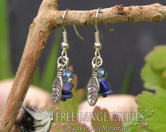 Sky Feather Gemstone Earrings