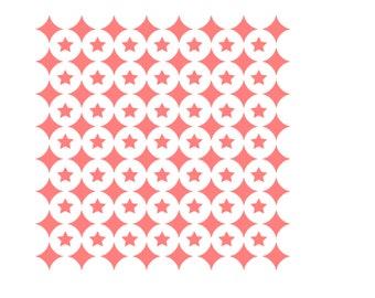 4 Point Star Cookie Stencil, Star Cookie Stencil, Stars Stencil, Star Cake Stencil, 5.5 x 5.5, Moroccan Stencil, Stars Pattern Stencil
