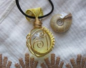 Planet Obsidian || Yellow Obsidian Wire Wrapped Necklace || Vegan Suede || Crystal Healing Jewelry