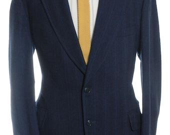Vintage 1970's Burton Blue Pinstripe Wool Suit 42 L - www.brickvintage.com
