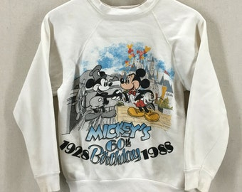 Vintage 1988 Mickey Mouse's 60th Birthday Disney Crewneck Sweatshirt Fits like an XS/S