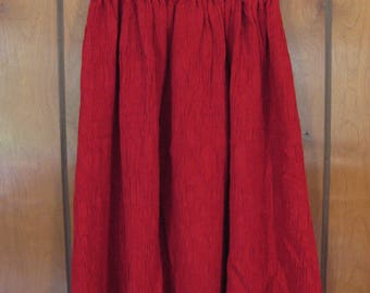 Girls Size 4 Red Crinkle Skirt, FREE SHIPPING