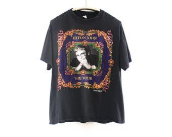 1992-1993 Elton John 'The Tour' World Tour Styled by Versace T-Shirt L